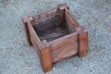 Petits cadres en bois pot 29.5x29.5x22 cm bois massif épicéa en ébène de couleur