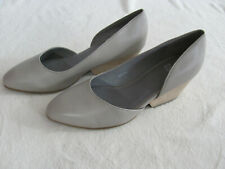 3bf932dbb40a Eileen Fisher Lily Stacked Block Heel Pumps-soft Nappa Leather- Barley-size  10m