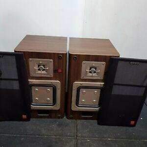 Sony APM 20ES Speakers Pair Hifi Stand mount Vintage ES Range 1985/7 60w 8 Ohm