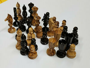 Large Bethlehem Olive Wood Handmade Exquisite Chess Pieces From The Holy Land