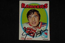 JIM NEILSON 1971-72 TOPPS SIGNED AUTOGRAPHED CARD #112 NEW YORK RANGERS