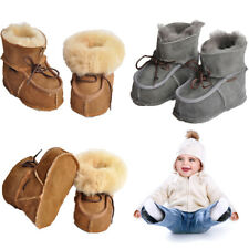 Baby Winter Boots Infants Warm Wool Booties Sheepskin Leather Boy Boots Newborns