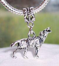 Wolf Animal Sanctuary Woods Zoo Dangle Bead for Silver European Charm Bracelets