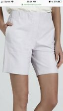Halston Heritage Soft Leather High Waist Shorts Size 2-4 Lavender
