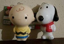 Hallmark Peanuts Snoopy  Charlie Brown Christmas Tree Ornament Set 50 Years NWT