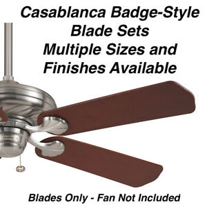 Casablanca Original Badge-Style Blades for Older Ceiling Fans Various Finishes