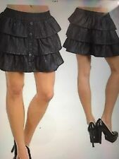 NWT lined light weight black denim triple tier skirt by Have & Have/small/sz. 5