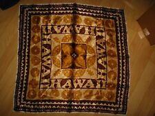 Hawaii Souvenir Scarf - Vintage 1960's Aloha Hawaiian Tiki Square Groovy Scarf