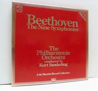 KURT SANDERLING beethoven the nine symphonies LP BOX SET EX/EX, SLS 5239, vinyl,