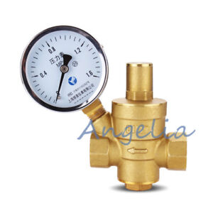 "1-1/2"" BSP DN40 Brass Water Pressure Reducing Valve With Gauge Flow Adjustable"