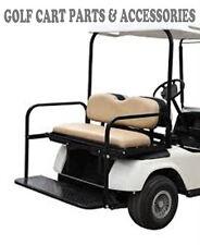 Golf Cart Rear Seat Kit - Flip Seat Kit EZGO TXT (1994 -2013) TAN SEAT CUSHIONS