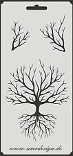 Scrapbook Stencil S-057  Tree ~ Craft ~ UMR-Design