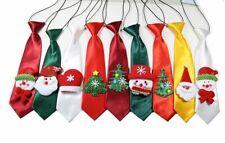 30pcs Christmas Pet Santa Snowman Large Dog Neckties Grooming Adjustable Ties