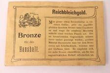 Lucido Casa Bronzo Colore Polvere Placcato Oro Reichbleichgold Vecchio circa 11g