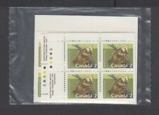 Canada Sealed Plate Blocks 1156 Mammal Definitives, Porcupine, Slater Paper, Apl