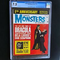 FAMOUS MONSTERS of FILMLAND #22 💥 CGC 7.5 💥 DRACULA Cvr! Warren Magazine 1963