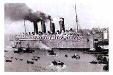 rs0156 - Cunard Liner - Mauretania , built 1907 - photograph