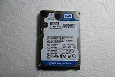 "WD Scorpio Blue 2.5"" Notebook SATA Hard Drive 500GB WD5000BEVT-55A0RT0 HBNTJHB"
