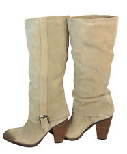 "Matisse ""Stetson"" Natural Tan Suede Knee High Pull-on Boots $219 Sz 8 1/2 M"