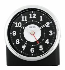 Acctim Silent Sweep Night Sensor Bold Numbers Central Alarm Clock Black 14280