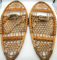 LL Bean VINTAGE The Maine Snow-Shoe Wooden 13 X 33 Snow Shoes Made In USA