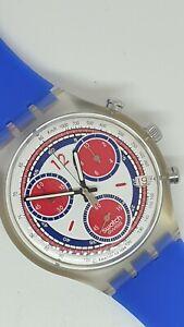 Swatch Diaphane Chronograph Watch with Date 4 Jewel Quartz Movement