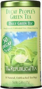 Decaf People's Green Tea by The Republic of Tea, 50 tea bag