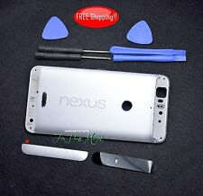 OEM Rear Panel Battery Cover Housing Case Replacement for Google Nexus 6P-Silver