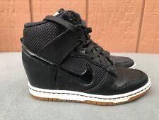 🔥 Nike Dunk Sky Hi Mesh Women Sneakers Size 7.5 579763 001 Wedge Black Sail C2