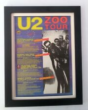 U2*Zoo Tour- last dates*1992*ORIGINAL*POSTER*AD*FRAMED*FAST WORLD SHIP