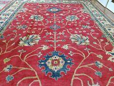 10 x 14.6 Vintage Afghan Veg Dye Kazak Serapi Heriz Rug Ushak Antique Caucasian