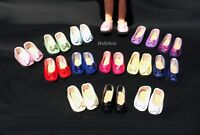 """Shoes for 6"""" Mini American Girl Doll with Bow You Choose from 14 Colors Slip-On"""