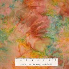 Bali Batik Fabric - Brown Green Beige Blender - Princess Mirah Quilt Cotton YARD