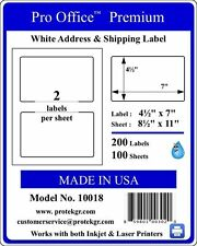 200 Pro Office 7.0X4.5 Self Adhesive Blank Shipping Labels Round Corner 8.5 x 11