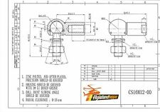 Winkelgelenk mit Dichtung CS LH DIN 71802 M8 Linksgewinde 1 x Kugelgelenk