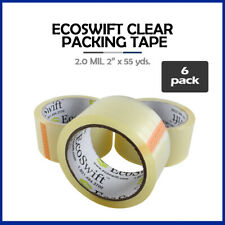 6 Rolls Ecoswift Brand Packing Tape Box Packaging 20mil 2 X 55 Yard 165 Ft