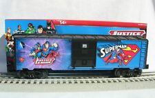 LIONEL 6-82681 JUSTICE LEAGUE SUPERMAN BOXCAR O GAUGE TRAIN DC COMICS