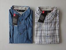 Under Armour Men's Legacy Woven Short Sleeve Fishing Button Up NWT