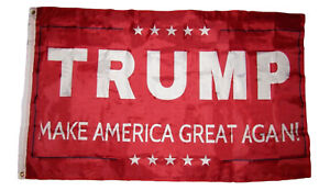 3x5 Donald Trump Make America Great Again! Red Premium Poly Flag 3'x5' Grommets
