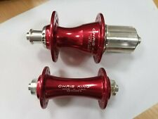 FR0110 + HBRR24R1SA Chris King R45 Front+Rear hub 20/24H 9x100/10x130 ShimanoRed