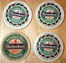 4 Vintage Heineken Beer Coasters