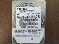 "Toshiba MK3263GSX (HDD2H23 V UL01 T) 010 A0/FG020M 320gb 2.5"" Sata Hard Drive"