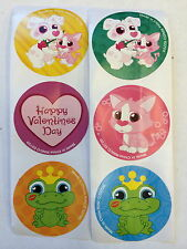 100 Happy Valentine's Day Party Favors Teacher Supply Heart Frog Prince Cat Dog