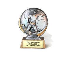 Soccer, Male Trophy- Cast Resin- Midfielder- Desktop Series- Free Lettering