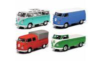 #450368900 - Schuco VW T1 Set mit 4 VW Transporter/Bulli/Bus (03689) - 1:43