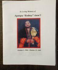 RARE Yokozuna Funeral Program WWE WWF WCW