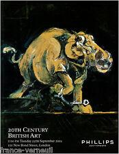 Catalogue Phillips 20th Century British Art Art moderne contemporain Anglais