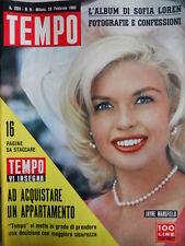TEMPO n°8 1963 Jayne Mansfield - L' Album di Sofia Loren [C86]