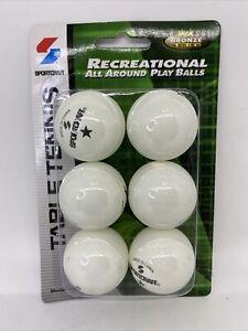 Sportcraft Table Tennis Balls 38mm Recreational All Around Play Balls Bronze