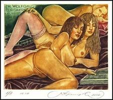 Kirnitskiy Sergey 2002 Exlibris C4 Erotic Erotik Nude Nudo Woman Book 48